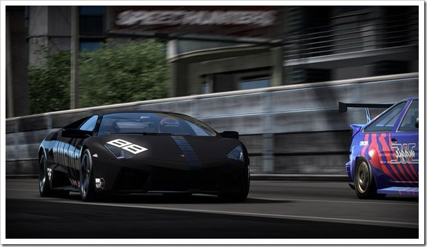 Lamborghini at high speed!