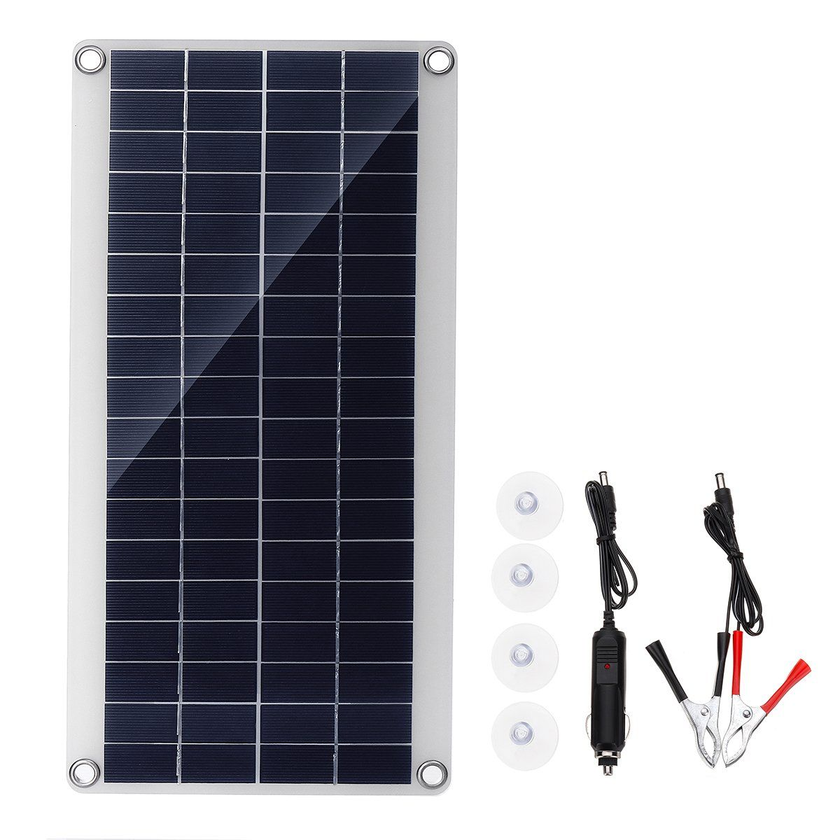 20w Portable Solar Panel Kit Dc Usb Charging Double Usb Port Suction Cups Camping Traveling Solar Panels Solar Panel Kits Portable Solar Panels
