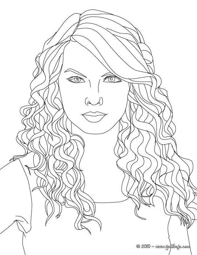 Taylor Swift coloring page | Taylor Swift, Miley & Pitbull ...