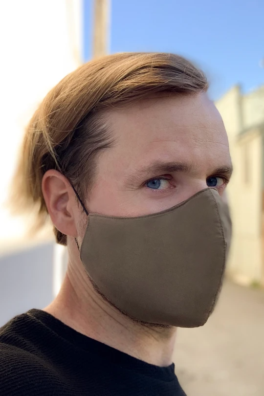 Men's Face Mask in Military Green in 2020 Mens face mask