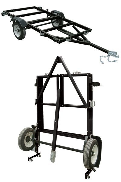 The Ironton® 4ft. x 8ft. folding trailer is large enough