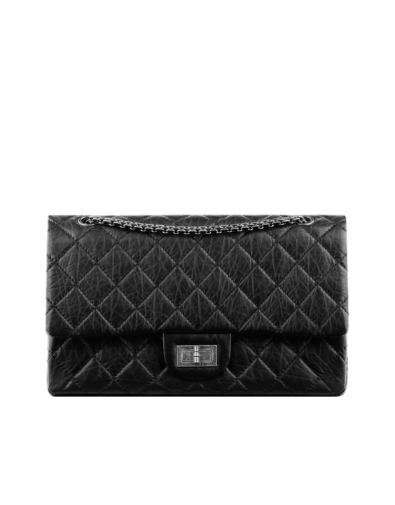 4244b647fec7 Large 2.55 flap bag in quilted - CHANEL  5