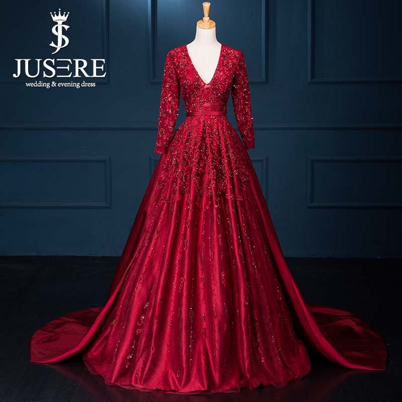 Aliexpress Com Buy Haute Couture Evening Dresses 2015 Red Real Photo V Neckline Open Couture Evening Dress Evening Dresses For Weddings Evening Dresses Long