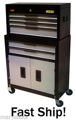 New Stanley  Drawer Rolling Tool Chest Cabinet Combo On Ebay