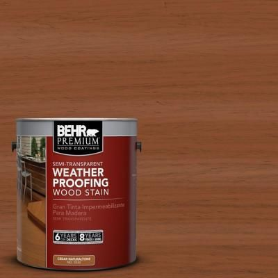 Behr Premium 1 Gal St 122 Redwood Naturaltone Semi Transparent Weatherproofing Wood Stain 507701 T Staining Wood Exterior Wood Stain Semi Transparent Stain