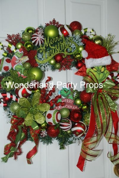 The Grinch Who Stole Christmas Wreath - Children\u0027s Party Network