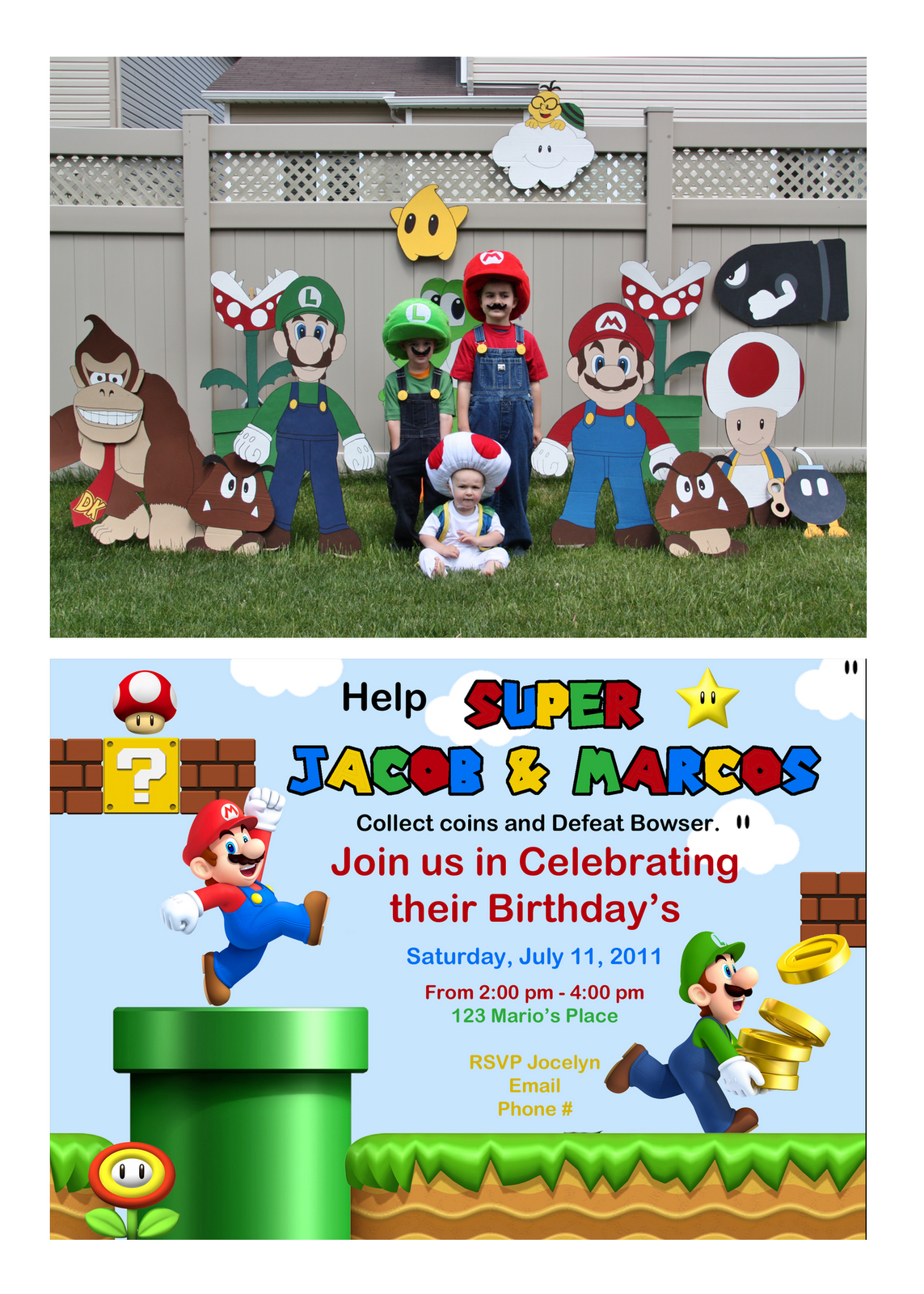 Super Mario Birthday Party Invitation Other party themes