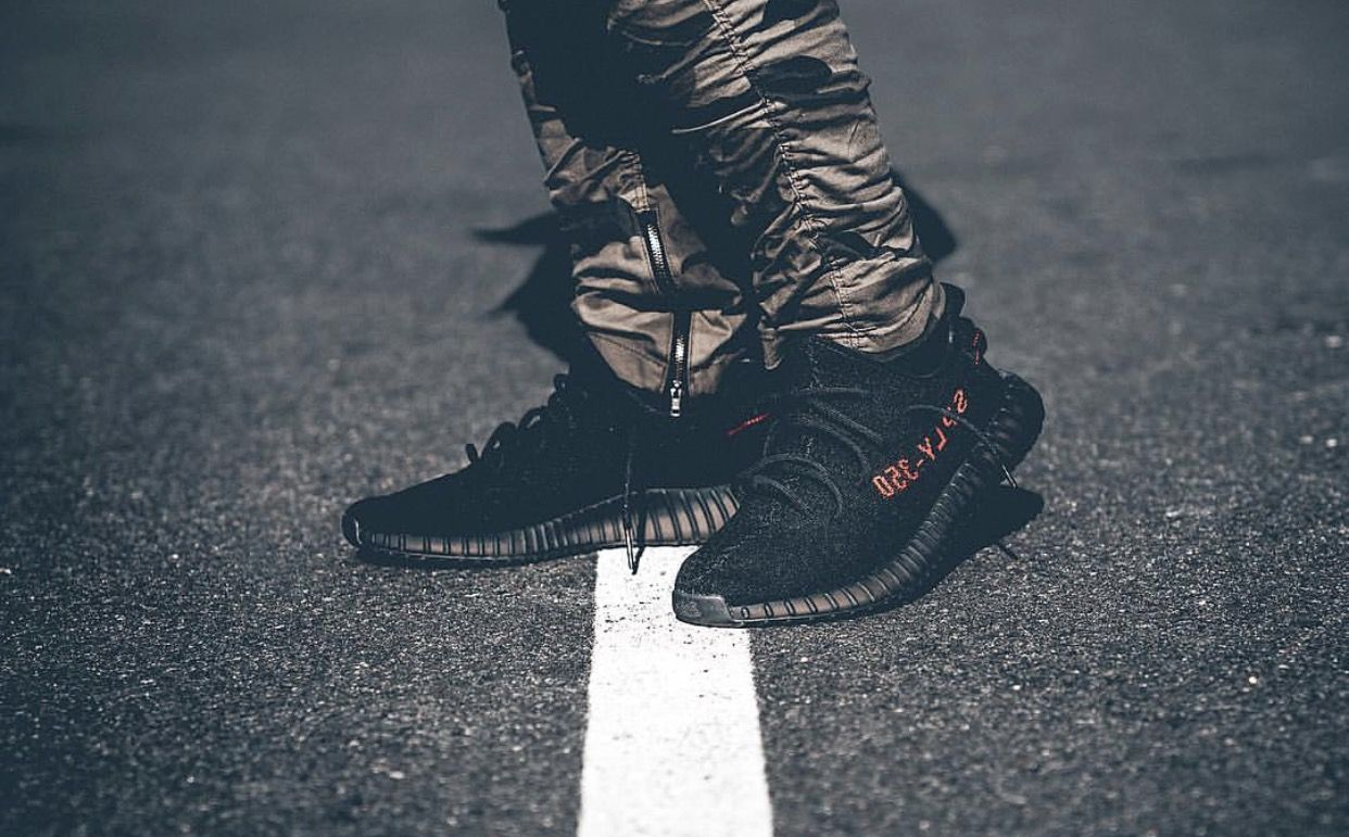 low priced 3a821 a3727 ... real adidas yeezy boost 350 v2 bred women work outfits woman outfits  sport outfits eb292 61257