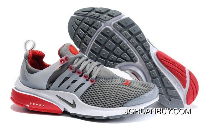 Nike Air Presto Mesh Heren Antraciet Rood Sneakers,Order popular and super  sneakers here would bring you big surprise.