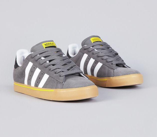 adidas Skateboarding Campus Vulc-Mid Cinder-Running White-Vivid Yellow   sneakers  kicks 879d9db862