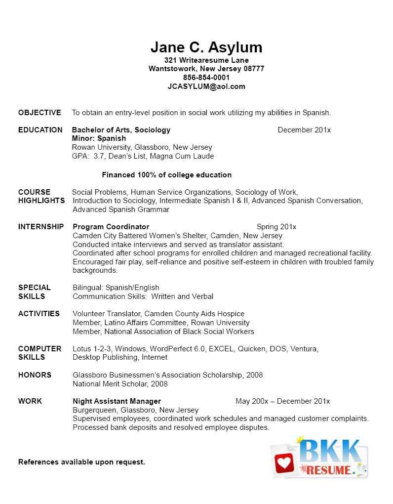 new grad resume  New Graduate Resume   Resumes  For