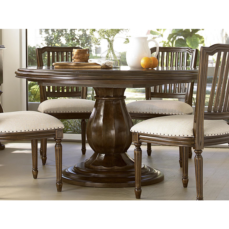 Paula Deen River House Round Dining Table In River Bank Stain