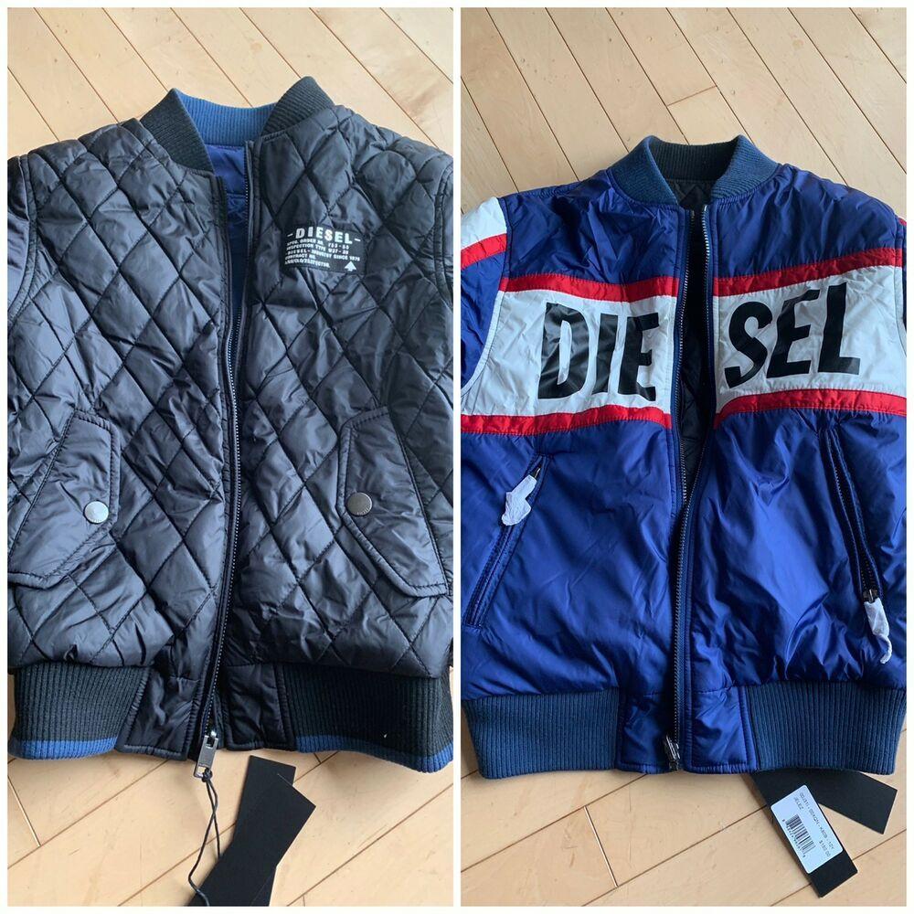 d06db567e959 eBay  Sponsored new DIESEL Jelez youth kids boys girls jacket coat  reversible black Blue 10