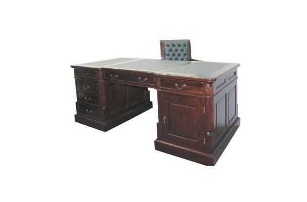 A Double Sided Library Partners Desk Desk Has Dimension Of W180xd90xh78 1 27sqm3 This Study Furniture Will Cost You 1 795 00 Partners Desk Desk Teak Outdoor Furniture