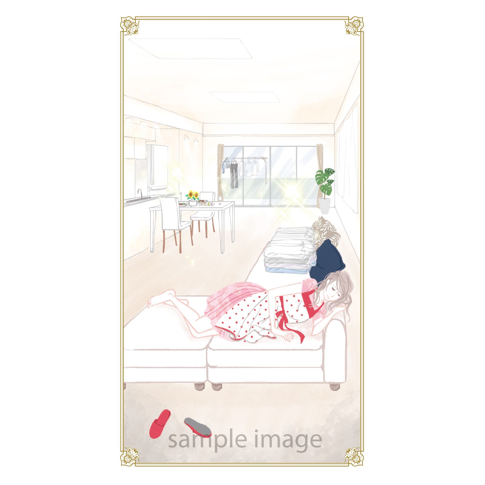オリジナル占いカード Illustration Image