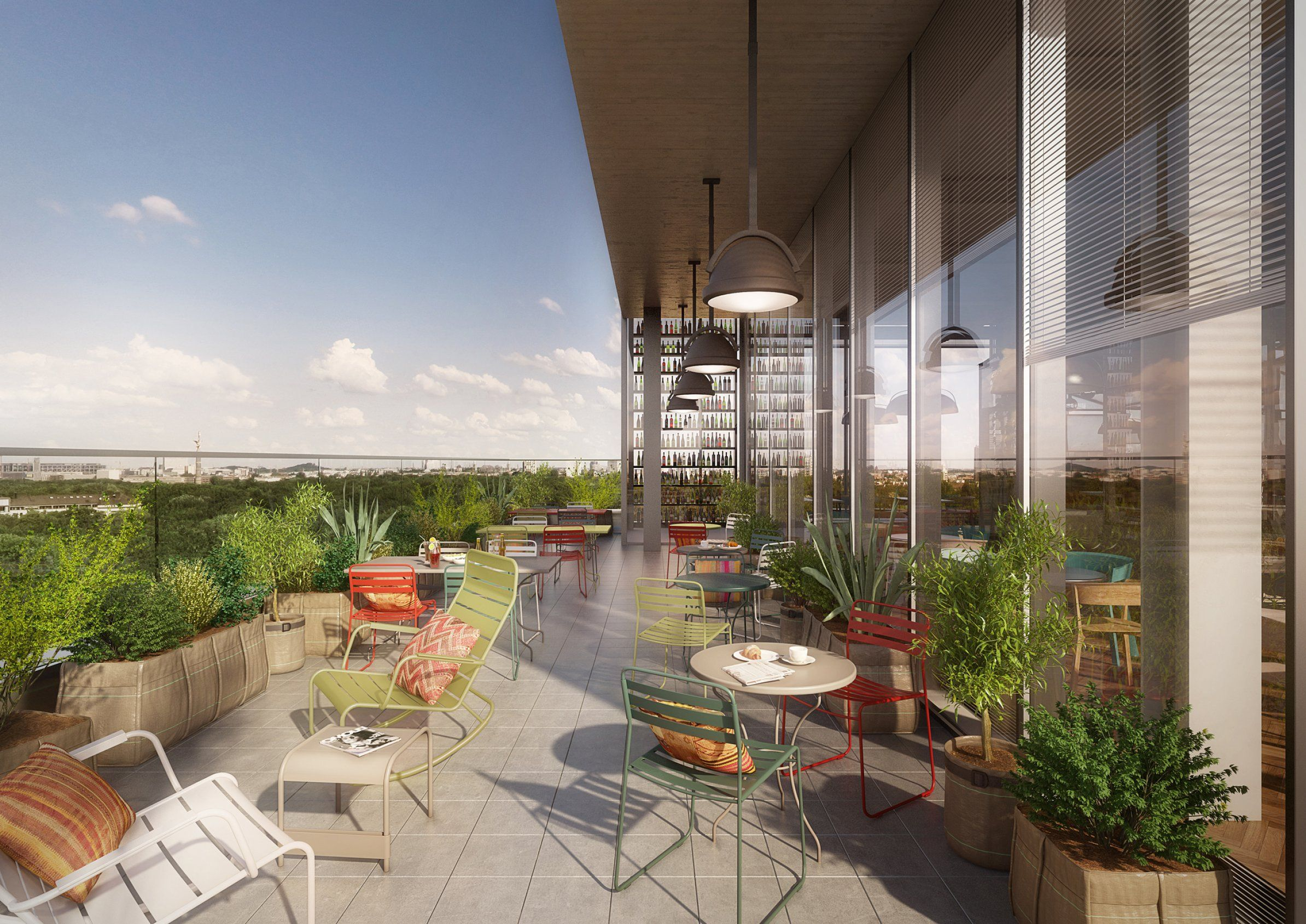 Dachterrassen Berlin dachterrasse des 25hours hotel berlin outdoor balcony