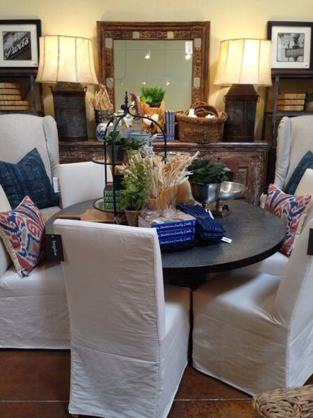 Scottsdale Blog Bungalow Az Promo Priced Slipcover Twill Chairs By Cisco Brothers