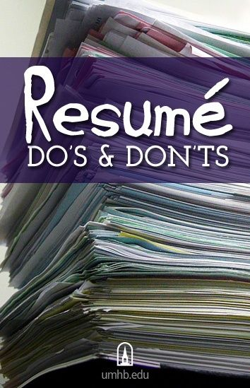 Resume Do\'s and Don\'ts (This is just a small list another University ...