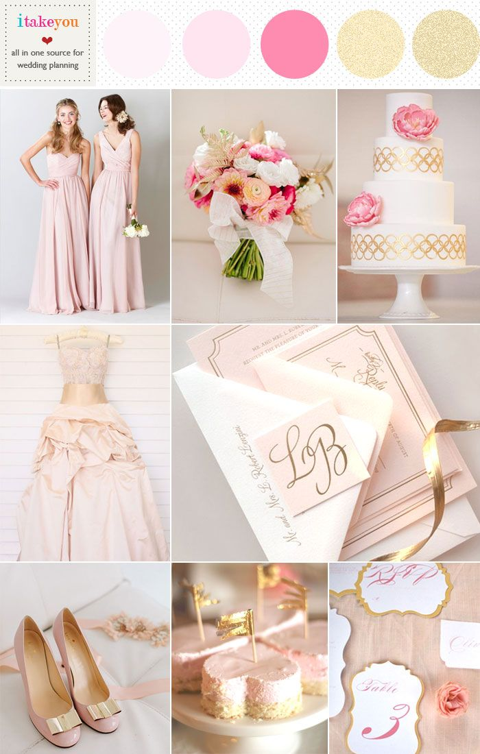 Blush Pink Gold Wedding