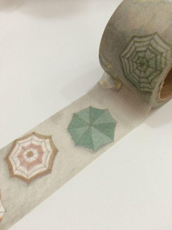 Masking Tape 30mm x 5M  colorful umbrella  by shekphoebe on Etsy