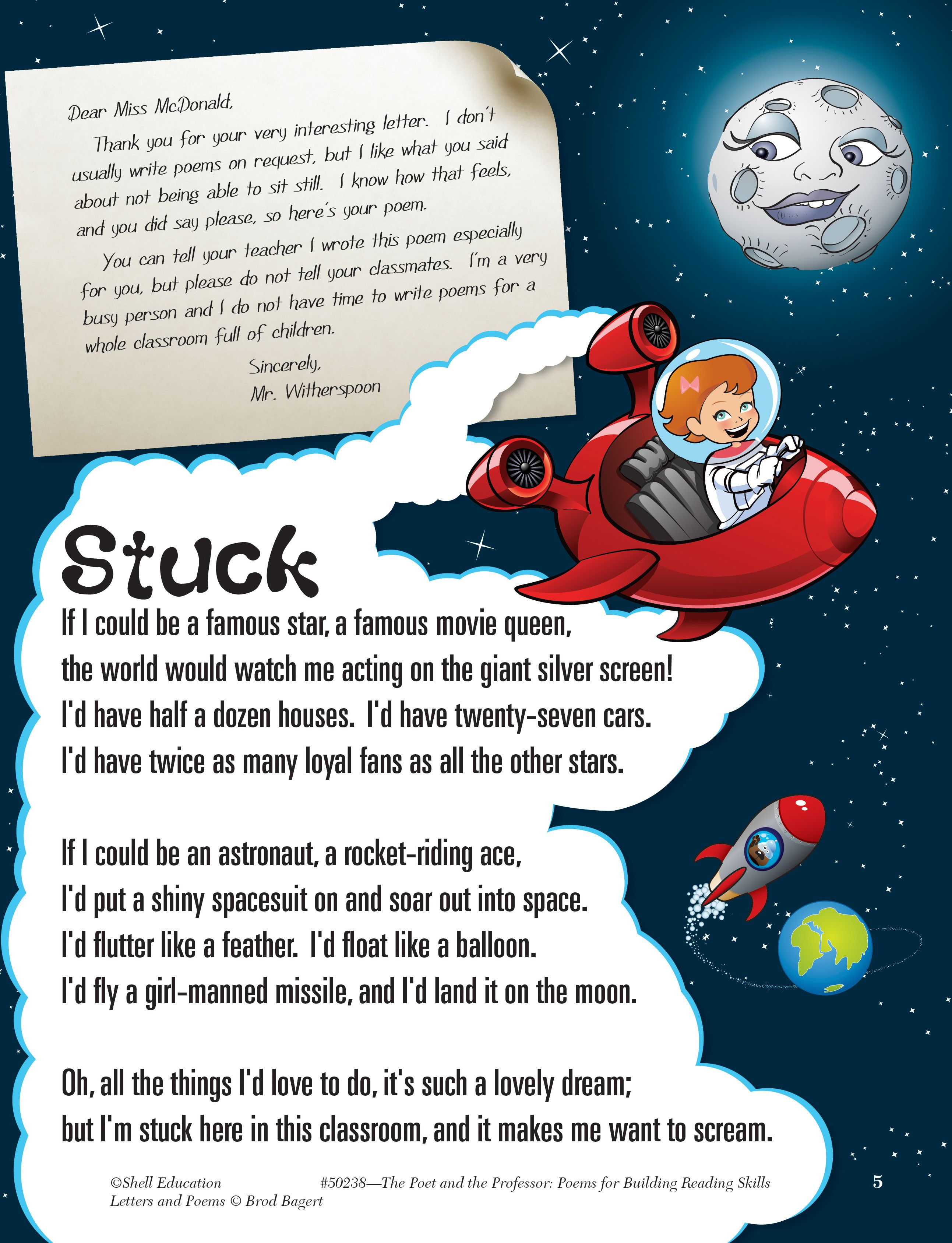 Make Poetry Fun For 4th Grade Reader With Poem Presented In A Whole New Light Coauthored By W Teacher Created Material Student Encouragement Voice Bright Star Paraphrase