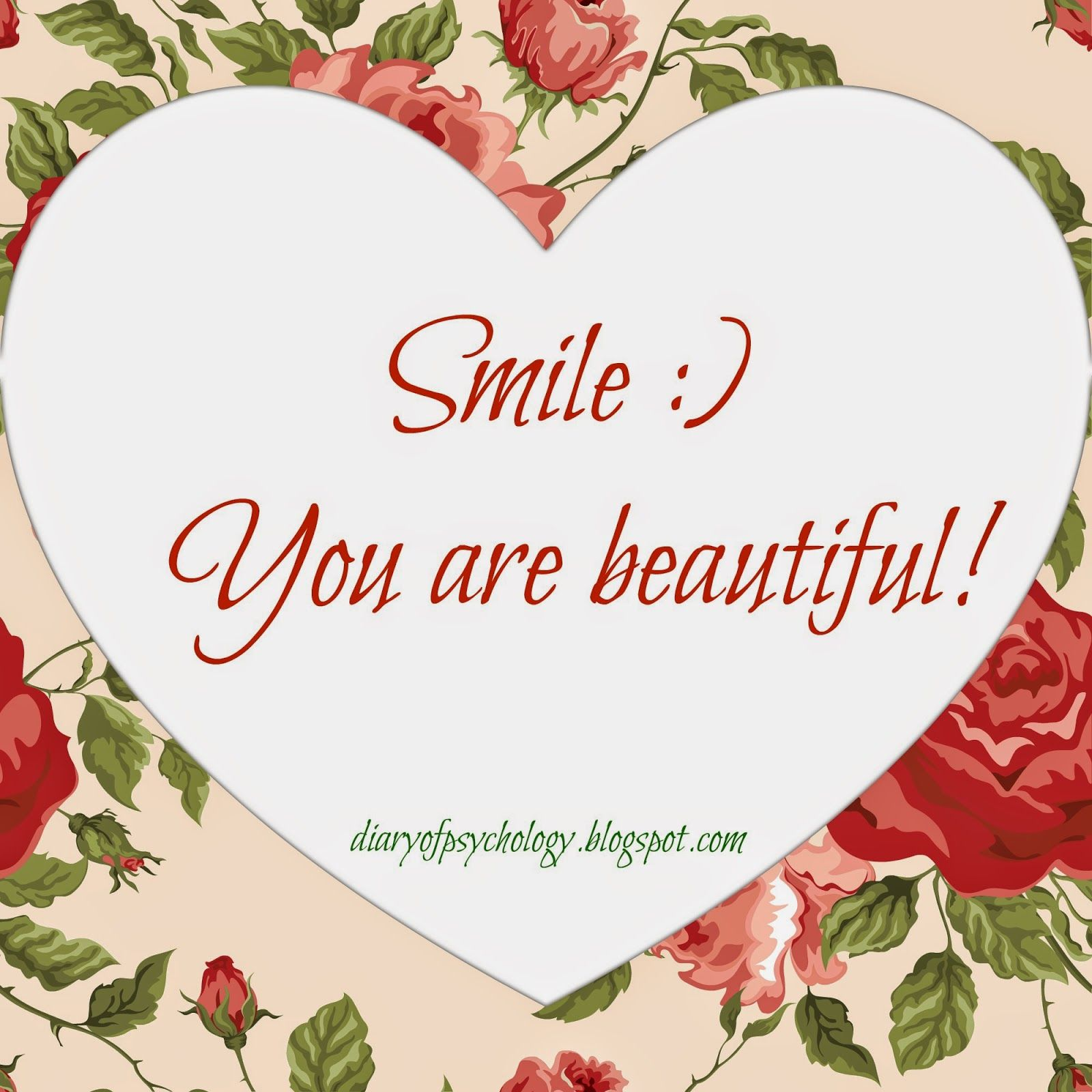 Psychologist Diary Tell the world that you are beautiful Great