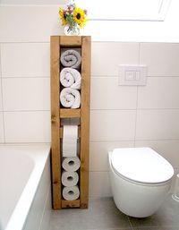 Toilettenpapier Aufbewahrung toilettenpapierhalter handtuchhalter klopapierhalter holzmann