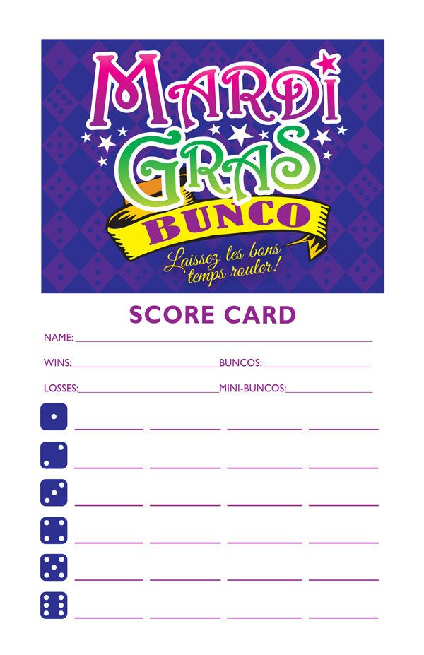 Incredible Mardi Gras Bunco Party Set Printable Table Markers And Download Free Architecture Designs Scobabritishbridgeorg