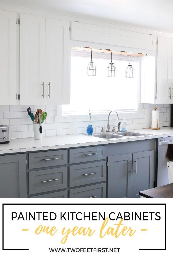 How's That Project Holding Up  Updated Kitchen Cabinets - Old kitchen cabinets, Update kitchen cabinets, Shaker style cabinet doors, Shaker style cabinets, Refacing kitchen cabinets, Painting kitchen cabinets - Wondering how painted cabinets hold up over time  See how our painted kitchen cabinets are one year later and if we would do it again