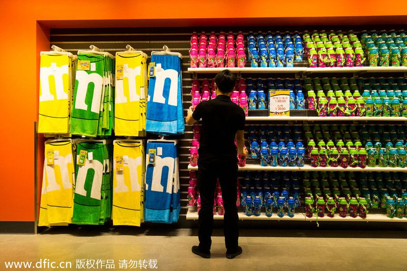 M&M's world July 1, 2014, to a great start with customers flocking to try its ...