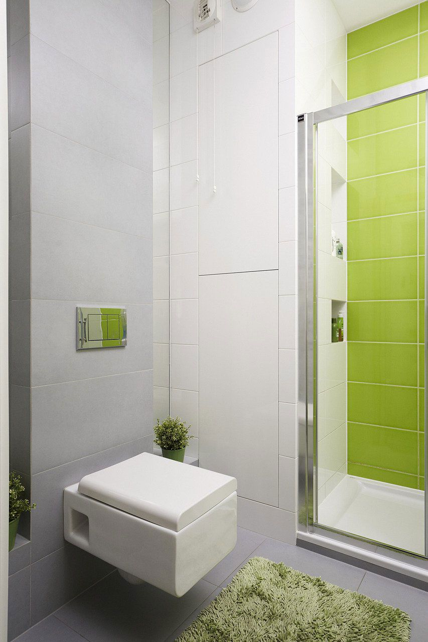 Vivacious Polish Apartment   Toilet, Squares and House architecture