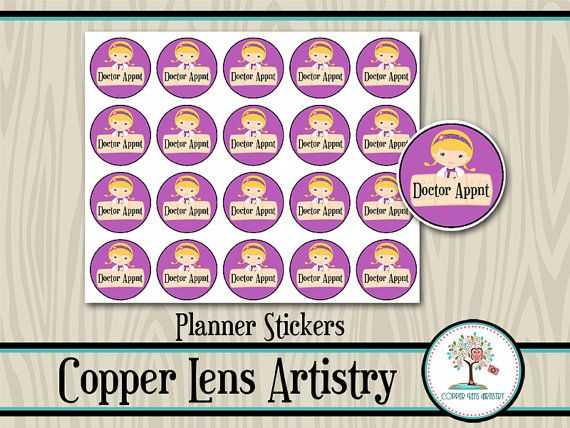 Doc Mcstuffins, Doctor Appointment Planner Stickers to ...