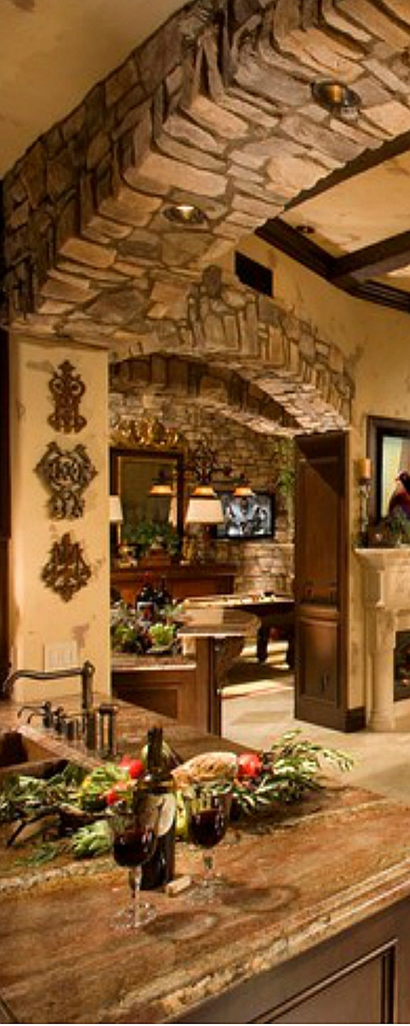 Arches With Images Italian Kitchen Design Tuscany Style