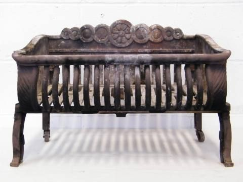 Columbus Architectural Salvage Antique Fireplace Coal Basket Wood Holder For Fireplace Architectural Salvage Fireplace Accessories