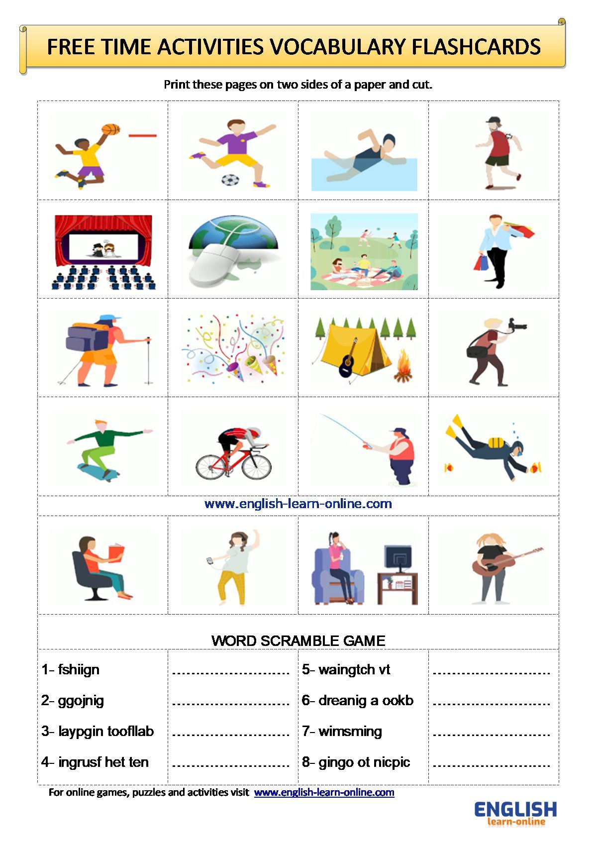 Pin On English Vocabulary Worksheets