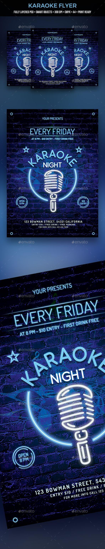 Karaoke Flyer Pinterest Karaoke Flyer Template And Fonts