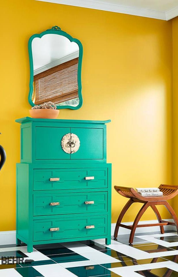 On and off walls, bold colors can indeed work together, just like ...