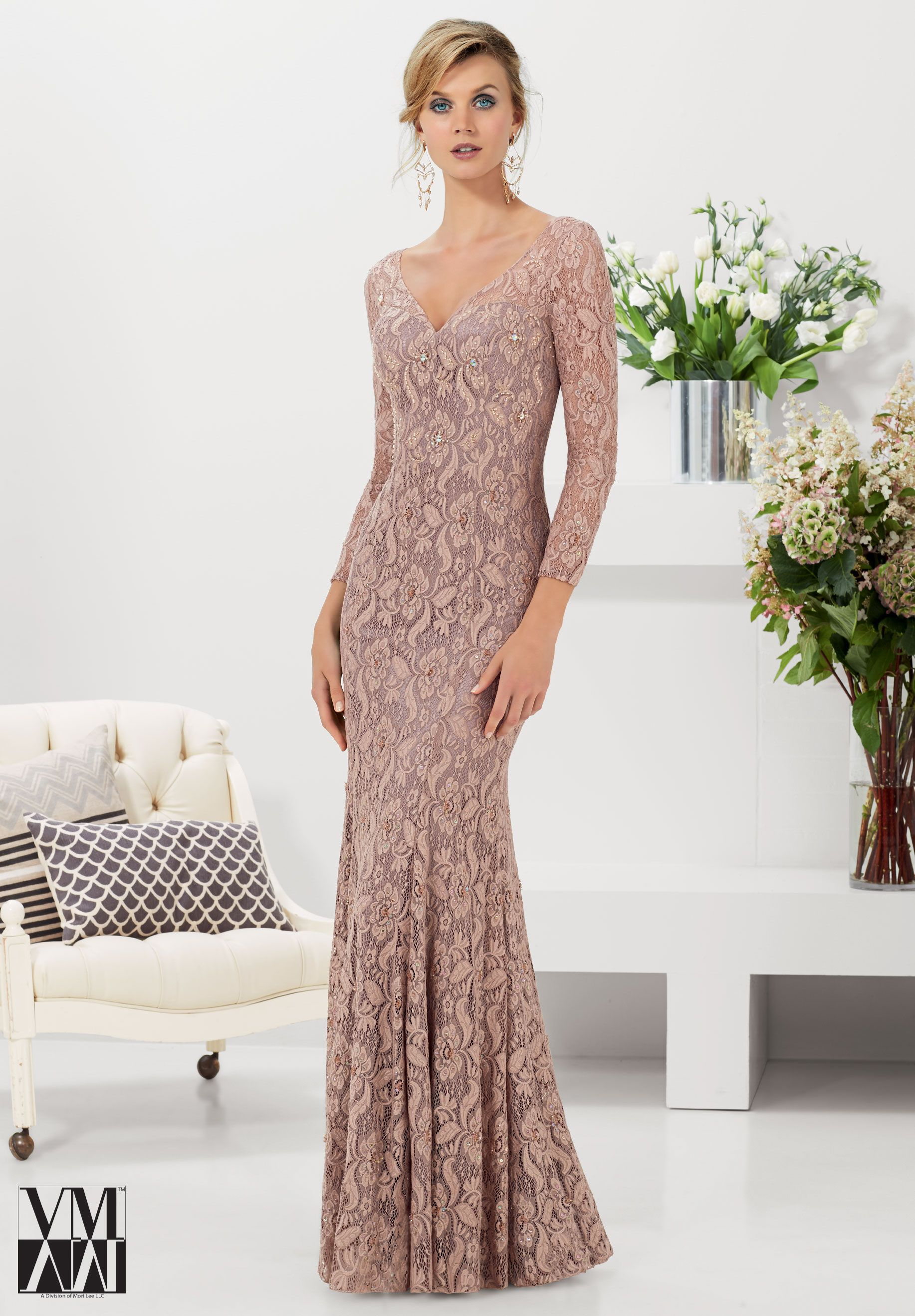 Evening Gowns Dresses Style 71114 Stretch Lace With