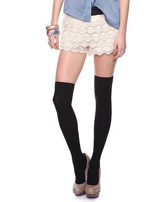 f21 crochet lace shorts