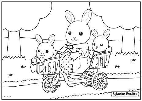 Pin En Sylvanian Families Coloring Pages