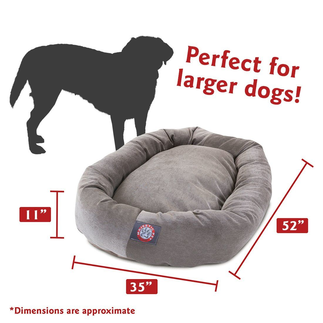 52 Inch Vintage Villa Collection Micro Velvet Bagel Dog Bed By Majestic Pet Products Want Additional Info Click On The Image In 2020 Dog Bed Majestic Pet Bagel Dog