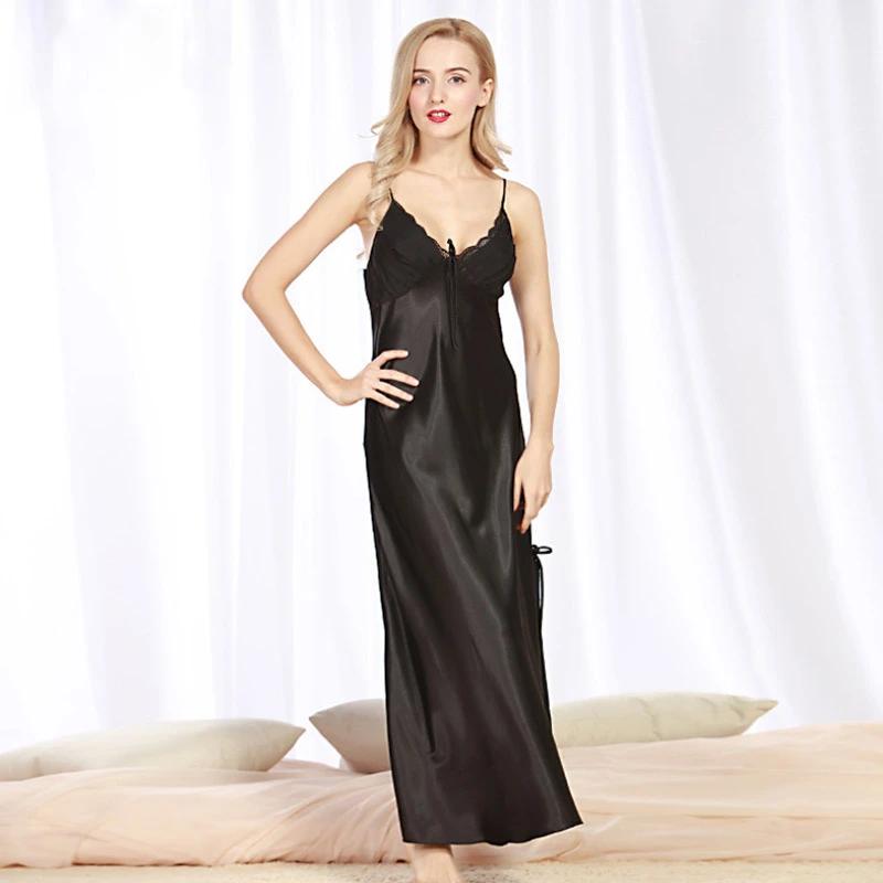 Silk Full Slip Comfy Ruffle Pajamas Petticoat Night Under Dress Comfort