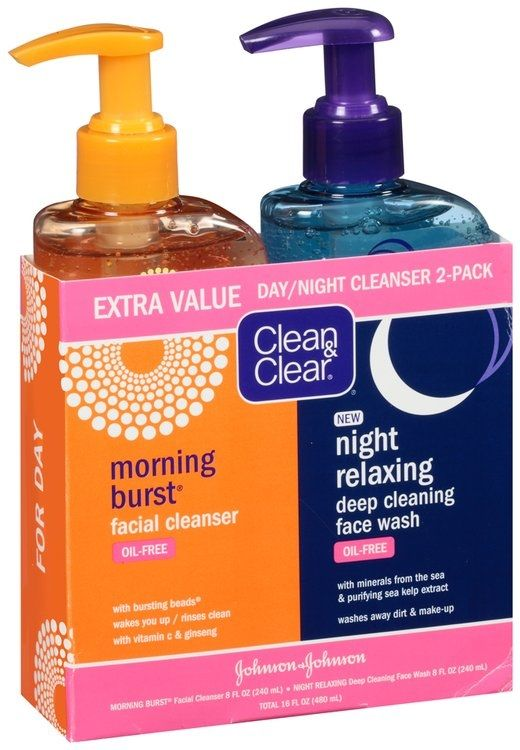 Clean Clear Morning Burst Facial Cleanser Night Relaxing Deep Cleaning Face Wash Facial Cleanser Face Wash Skin Cleanser Products