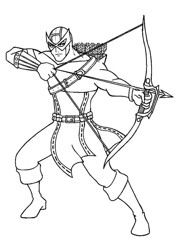 Hawkeye Avengers Coloring Superhero Coloring Pages Superhero Coloring