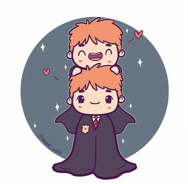 Fred And George Weasley Weasley Twins Desenhos Harry Potter
