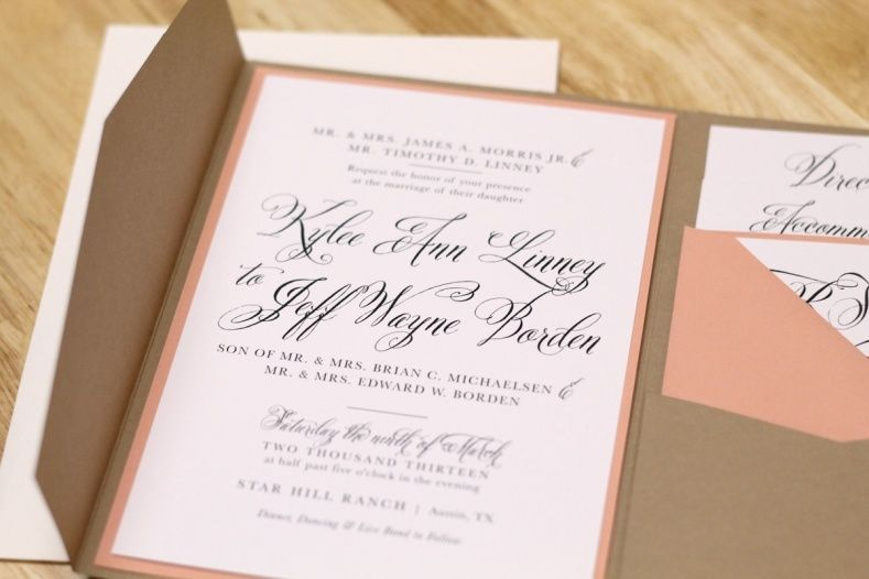 Wedding Invitation Pocket Folds Wedding Ideas Pinterest Weddings