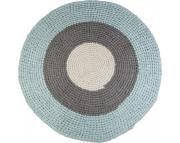 Vloerkleed Blauw Grijs : Vloerkleed gehaakt blauw grijs sebra vloerkleed gehaakt