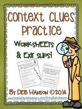 Printables Types Of Context Clues Worksheets types of context clues worksheets davezan 1000 images about on pinterest