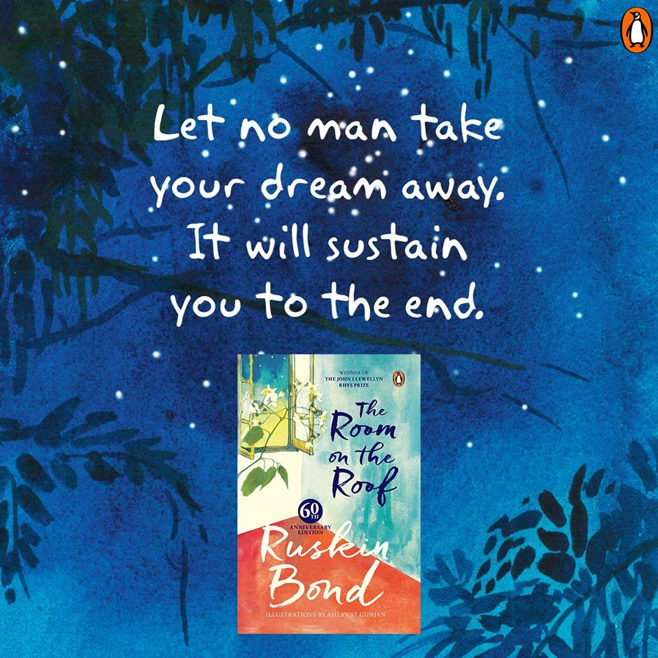 Poignant Heart Warming And An Absolute Classic Ruskinbond S Story The Room On The Roof Is Back In A New Look Ruskin Bond Book Lovers S Stories