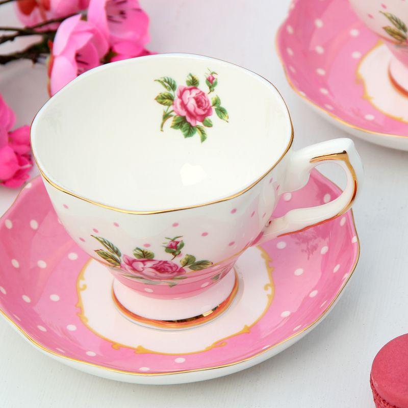 4b193895c96 Albert bone china coffee cup set fashion coffee cup and saucer ceramic  d'Angleterre black